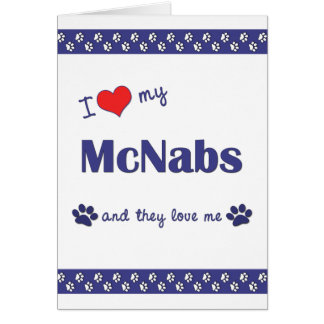 I Love My McNabs (Multiple Dogs) Stationery Note Card