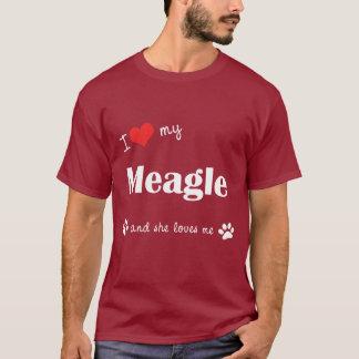 I Love My Meagle (Female Dog) T-Shirt