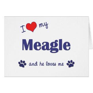 I Love My Meagle (Male Dog) Card