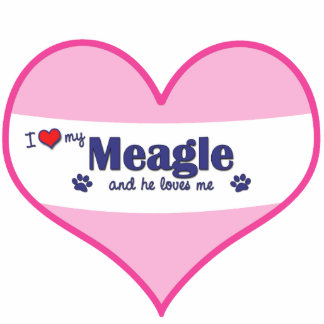 I Love My Meagle (Male Dog) Statuette