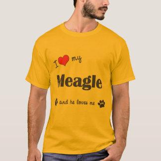 I Love My Meagle (Male Dog) T-Shirt