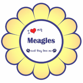 I Love My Meagles (Multiple Dogs) Cutout