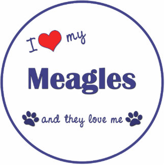 I Love My Meagles (Multiple Dogs) Statuette