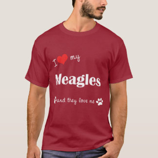 I Love My Meagles (Multiple Dogs) T-Shirt
