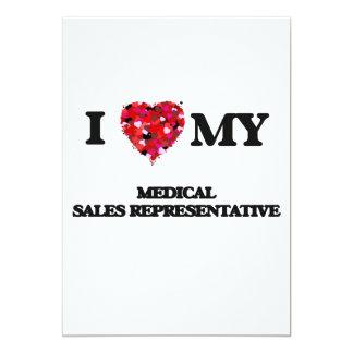 I love my Medical Sales Representative 5x7 Paper Invitation Card