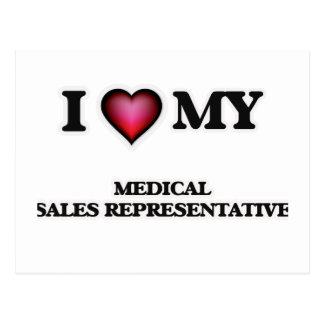 I love my Medical Sales Representative Postcard