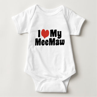 I Love My MeeMaw Baby Bodysuit