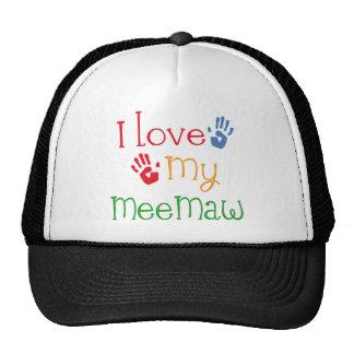 I Love My Meemaw Handprints Trucker Hat