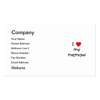 I love my memaw Double-Sided standard business cards (Pack of 100)