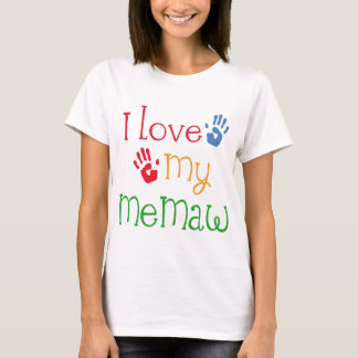 I Love My Memaw Handprints T-Shirt