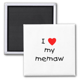 I love my memaw 2 inch square magnet