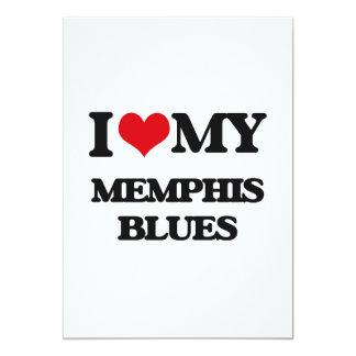 I Love My MEMPHIS BLUES 5x7 Paper Invitation Card