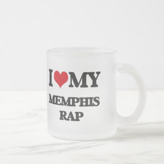 I Love My MEMPHIS RAP 10 Oz Frosted Glass Coffee Mug