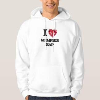 I Love My MEMPHIS RAP Hooded Pullover