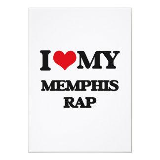 I Love My MEMPHIS RAP 5x7 Paper Invitation Card
