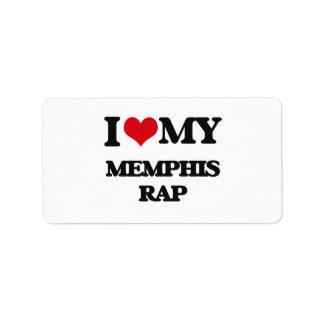 I Love My MEMPHIS RAP Personalized Address Label
