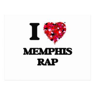 I Love My MEMPHIS RAP Postcard