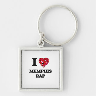 I Love My MEMPHIS RAP Silver-Colored Square Keychain