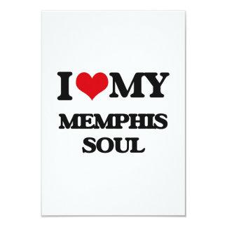 I Love My MEMPHIS SOUL 3.5x5 Paper Invitation Card