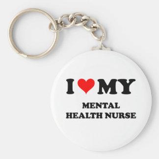 I Love My Mental Health Nurse Key Chains