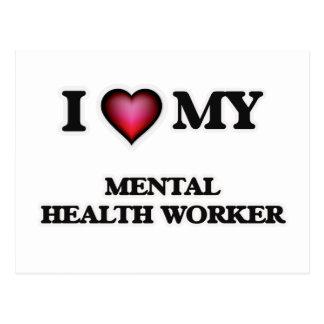 I love my Mental Health Worker Postcard