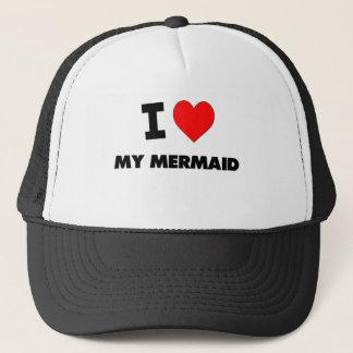 I Love My Mermaid Trucker Hat
