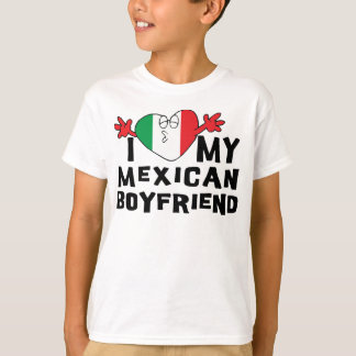 I Love My Mexican Boyfriend Girls T-Shirt