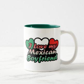 I Love My Mexican Boyfriend Two-Tone Coffee Mug