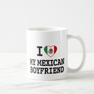 I love my Mexican Boyfriend with Heart Flag Classic White Coffee Mug
