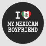 I love my Mexican Boyfriend with Heart Flag Sticker