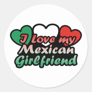 I Love My Mexican Girlfriend Round Sticker
