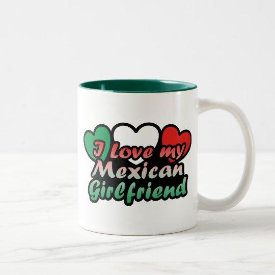 I Love My Mexican Girlfriend Two-Tone Coffee Mug