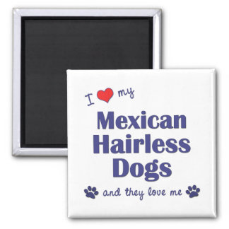 I Love My Mexican Hairless Dogs (Multiple Dogs) Fridge Magnets