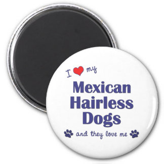 I Love My Mexican Hairless Dogs (Multiple Dogs) Refrigerator Magnets