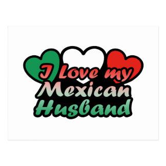 I Love My Mexican Husband Postcard