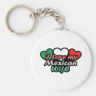 I Love My Mexican Wife Basic Round Button Keychain