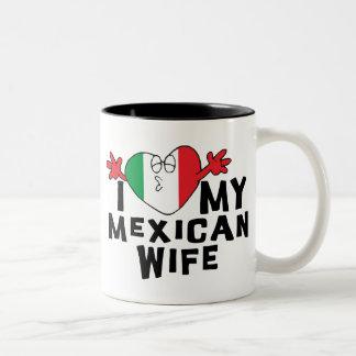I Love My Mexican Wife Two-Tone Coffee Mug