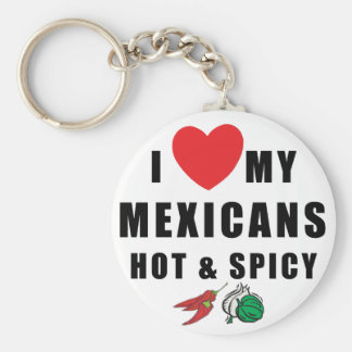 I Love My Mexicans Hot & Spicy Key Chain