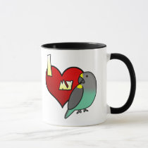 I Love my Meyers Parrot Mug