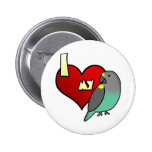 I Love my Meyers Parrot Pinback Buttons