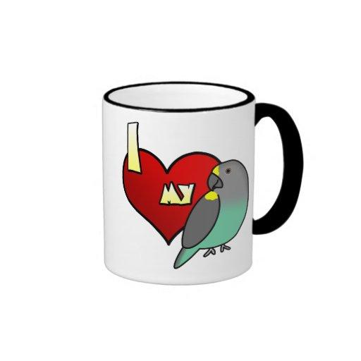 I Love my Meyers Parrot Ringer Coffee Mug
