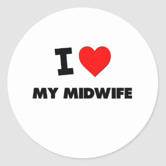 I love My Midwife Stickers
