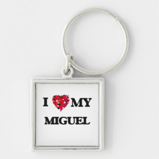 I love my Miguel Silver-Colored Square Keychain