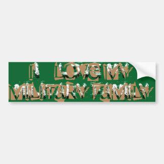 I LOVE MY MILITARY FAMILY BUMPER STICKER
