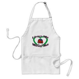 I Love My Military Man Adult Apron