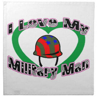 I Love My Military Man Napkin