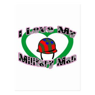 I Love My Military Man Postcard