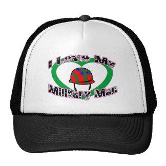 I Love My Military Man Trucker Hat