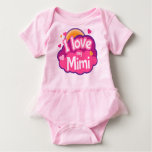 I Love My Mimi Grandma Baby Girl Tutu Tshirt