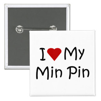 I Love My Min Pin Dog Breed Lover Gifts
